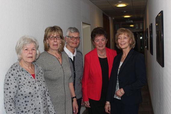 von links: Birgit Frahm, Heike Schinkel, Heidi Nagler, Marion Wagner und Heidi Kieselbach
