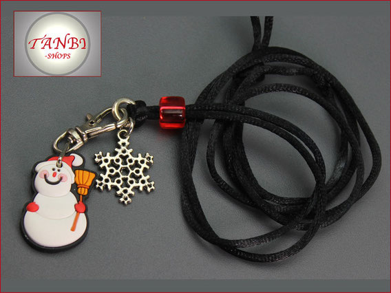 Kinderkette-Schneemann-Schneeflocke-Kette-Winter-Winterkette