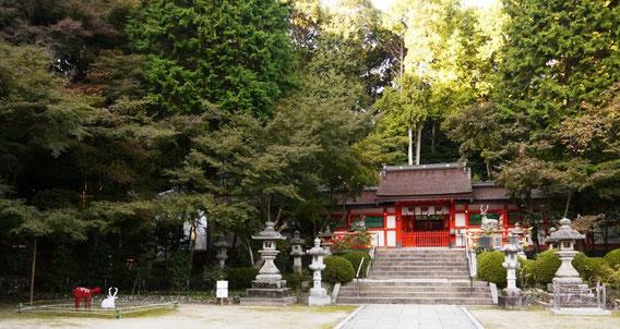 大原野神社での展示風景