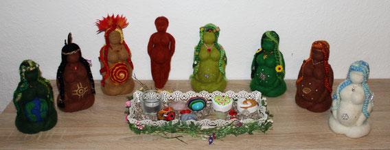 Göttin, Gaia, Göttinnen, Filzgöttin, Filzkunst, Filzarbeiten, Rituale, Ikone