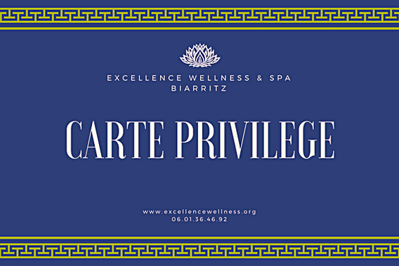 carte privilege massage biarritz par Excellence Wellness & Spa.