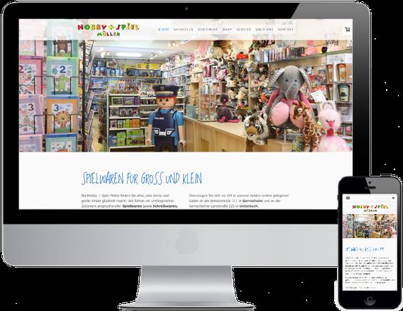 Website Hobby und Spiel Müller
