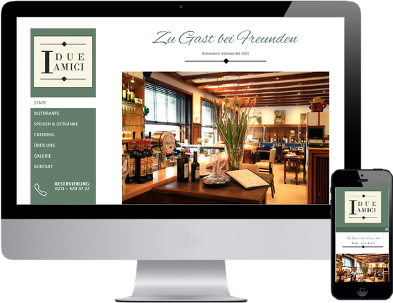 Website Restaurant I Due Amici