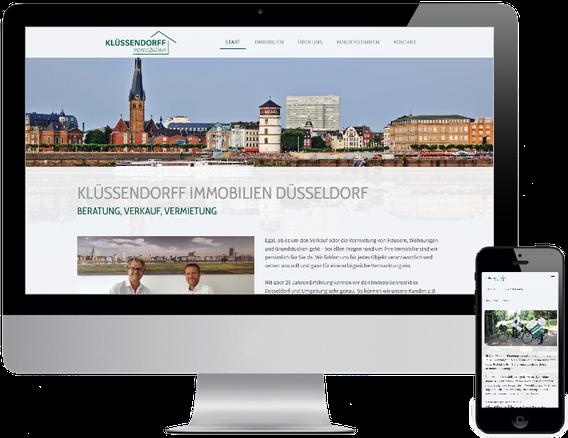 Webseite Klüssendorff Immobilien