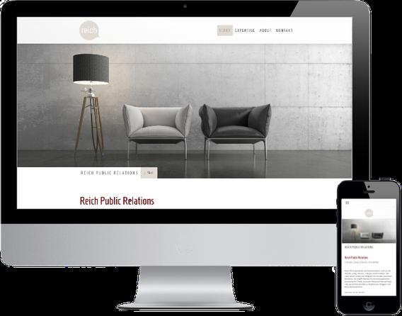 Webseite Reich PR