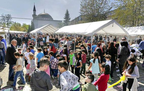 Auch die jüngsten Besucher hatten bei tollem Wetter viel Spaß auf dem Kulturfest.