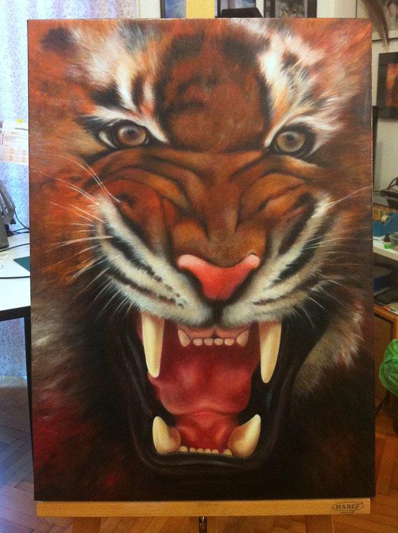 Tigre - Olio su tela - cm.50x70