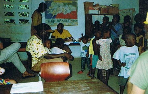 Stadt Sere Kunda-Gambia-Westafrika | die von Grasler und Freunden unterstützte Schule im Busch