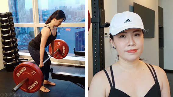Alice personal training at Levitise in Singapore