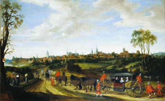 Gerard ter Borch, Einzug des Gesandten Adriaen Pauw, 1646.
