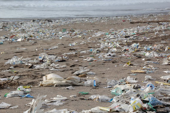 Plastikmüll, Strand