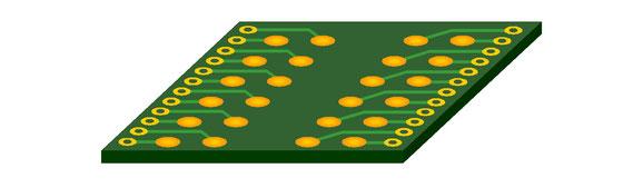 DDRメモリのプローブ基板