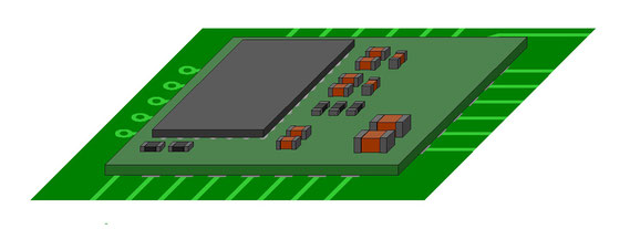 モジュール部品が実装された基板