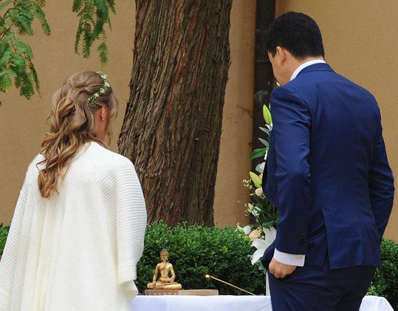 Buddhistische Hochzeit in Deutschland