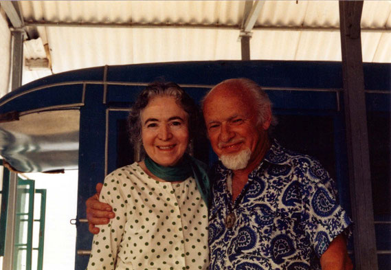 Le with Mani Irani ( Meher Baba's sister ), India