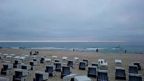 am Strand von Westerland