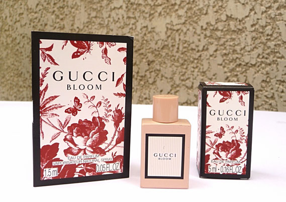 2014 - GUCCI BLOOM : EAU DE PARFUM 5 ML & ECHANTILLON ASSORTI 1,5 ML