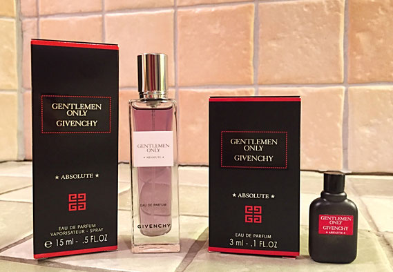 2016 - GENTLEMENT ONLY - ABSOLUTE : EAU DE PARFUM - 2 MINIATURES DIFFERENTES