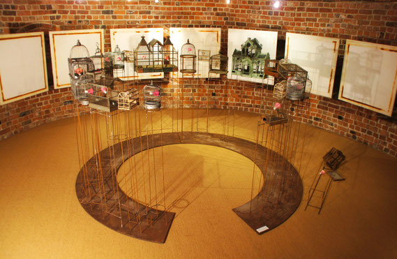 Installation in derr Ausstellung Quintessenz, Buxtehude