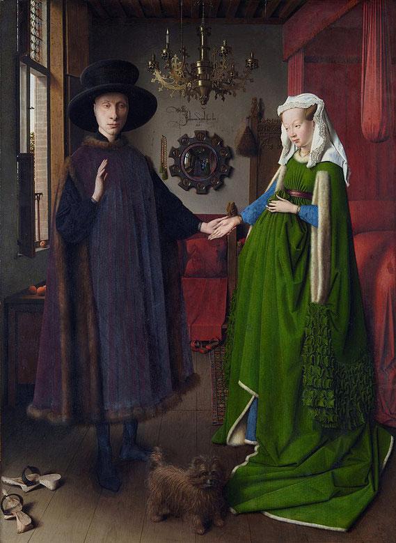 《アルノルフィーニ夫妻像》,1434年