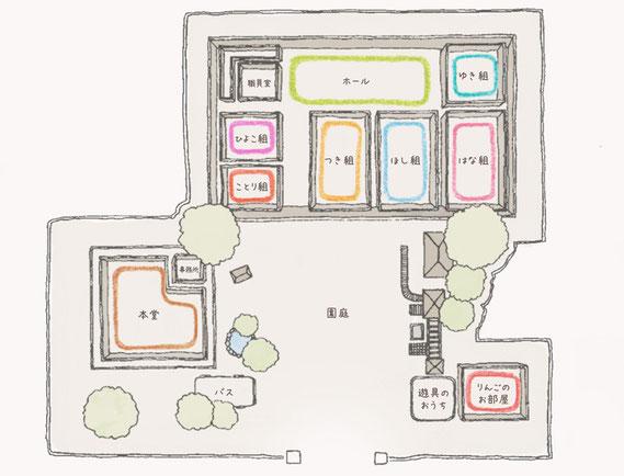 銀の鈴幼稚園見取り図