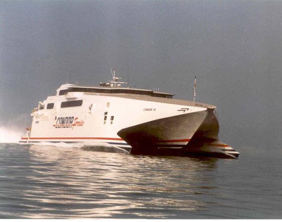 Condor 12 at sea.