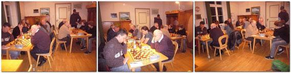 Königsbrunn II ist nur mit 6 Mann/Frau angetreten, sodass Alexander Zapf + Wassili Schudra kampflos gewannen.