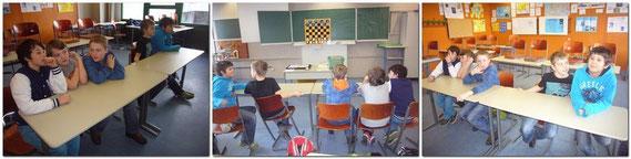 Beim 2. Schachlehrtag, nahmen leider nur 5 Schüler teil, dafür aber mit sehr viel mehr Interesse als am 1. Tag.. An der Demo-Tafel wurden zuerst die Grundkenntnisse erlernt. Nach der Theorie spielten die Buben dann in 2 Teams gegeneinander Schach