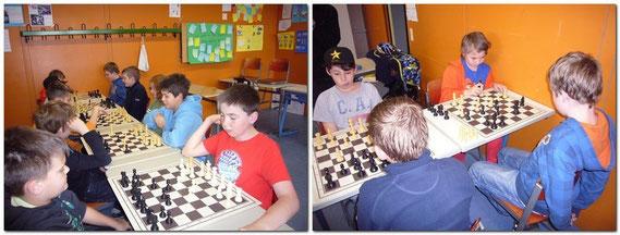Die Schüler der 5. + 6. Ganztagesklassen, die sich für das Wahlfach Schach an der Realschule Bobingen entschieden haben, werden von Franz Wildegger vom Schachklub Bobingen sowohl am Demo-Brett an der Tafel, als auch im normalen Nahschach unterrichtet.