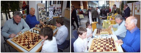 Neubürgerempfang 2009 der Stadt Bobingen in der Singoldhalle. Auch der Schachklub Bobingen nahm mit dem 1. Vorsitzenden und dem Getränkewart teil um Mitgliederwerbung zu betreiben.