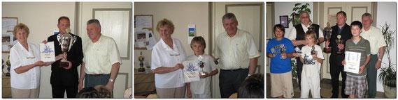 Bilder vom Sommerfest 2009 mit den Ehrungen der Vereinsmeister,  Blitzmeister und der Stadtmeister Jugend und Senioren,  aus dem Spiel-Jahr 2008