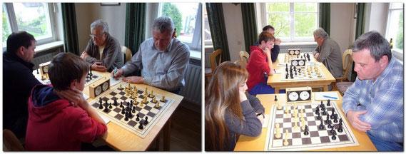 In seinem letzten Punktspiel für den Schachklub Bobingen patzte Franz Wildegger an Brett 2 und musste sich seinem Jugendlichen Gegner geschlagen geben. Dagegen konnte Otto Regner an Brett 1 seinen Gegner bezwingen.