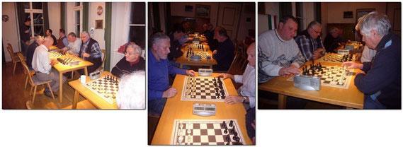 Leider ist auch hier im dunklen Hintergrund, Blitzmeister Toni Kottmair nicht zu sehen. Mittig Franz und Werner.