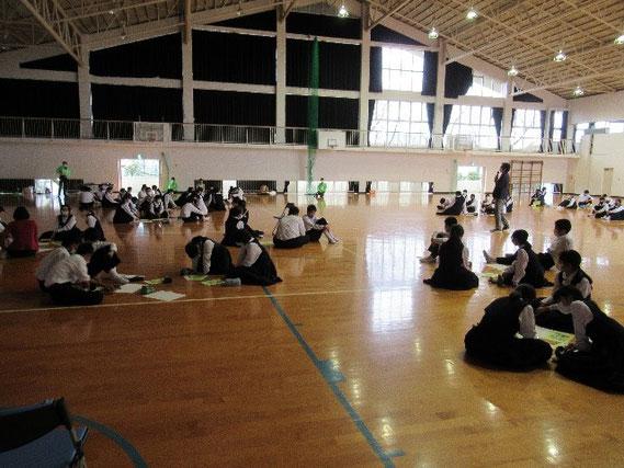 三田川中学校での様子です