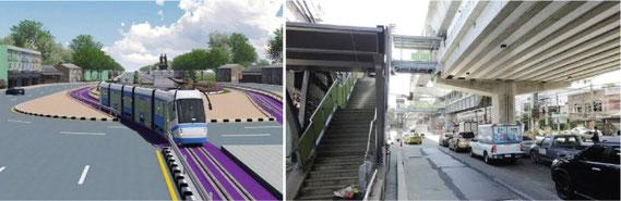 BTS、地下鉄の延長のほか、高速鉄道、モノレールの構想も