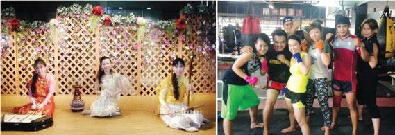 タイならではの習い事も。ムエタイやタイ舞踊、タイ料理、タイ楽器など