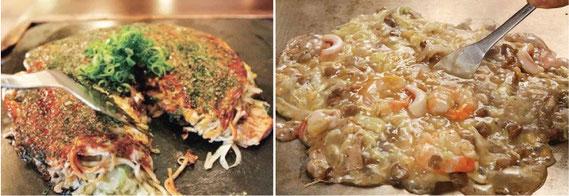 鉄板焼き、お好み焼きの「広島」