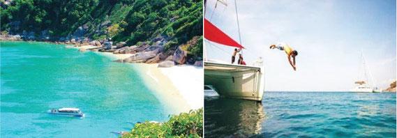 バンコク郊外の水上マーケットや、リゾート地で自然を満喫するのもよい