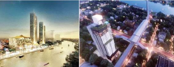 チャオプラヤー川沿いでも大規模な開発が予定されている