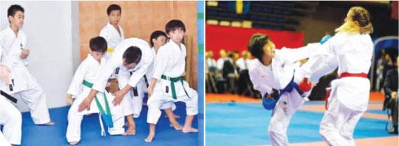 タイで日本の空手、格闘技
