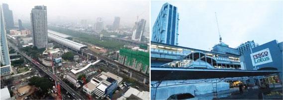 バンコク郊外でもコンドミニアム建設、大型ショッピングモールオープン、路線延長と開発が進んでいる
