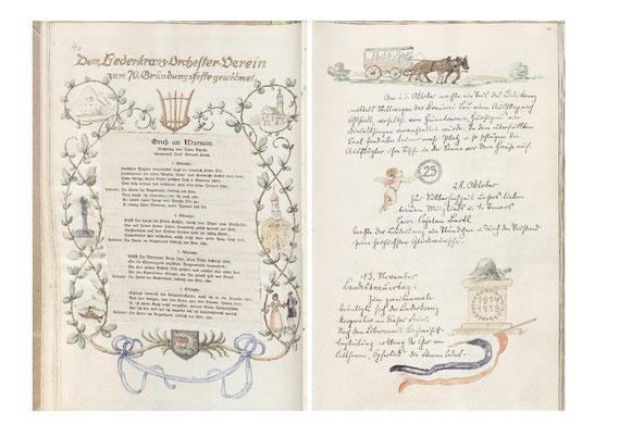 """Prof. Eduard Lerch komponierte 1932 das Lied """"Gruß an Murnau"""" zu Ehren des 70 jährigen Bestehen. Das Chormitglied Hans Achatz schrieb den Text dazu."""