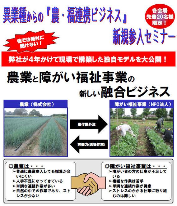 【アルファイノベーション・セミナー】異業種からの『農・福連携ビジネス』新規参入セミナー