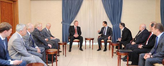 السيد الرئيس بشار الأسد يستقبل وفدا حكوميا روسيا برئاسة ديمتري روغوزين نائب رئيس حكومة روسيا الاتحادية - 24.05.2014