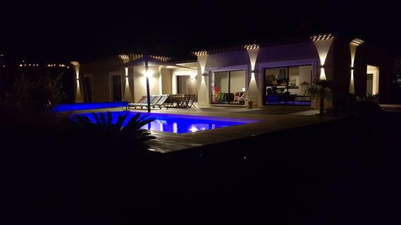 aubade piscine nuit
