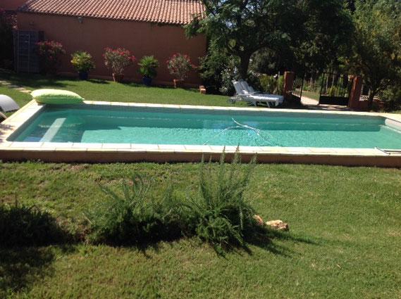 plage immergée var aubade piscine