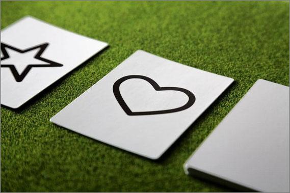 ハート型のカード