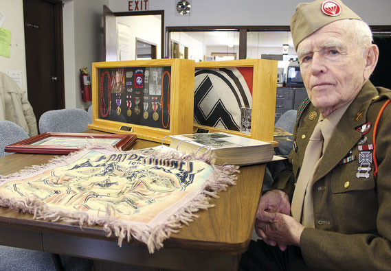 "LeRoy ""Chris"" Reistroffer of Bellevue, who received two Purple Hearts and numerous medals and honors for his service to the country during World War II as a soldier in the 82nd Airborne, recently reflected on the D-Day invasion of 1944."