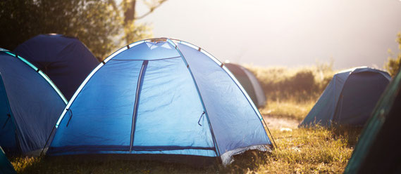 Campingtoilette beim Zelten