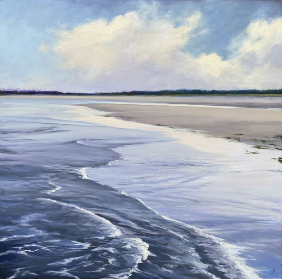 "Margaret Gerding, ""Dawn Light,"" 2021, oil on canvas, 40 x 48 inches, $8,500"